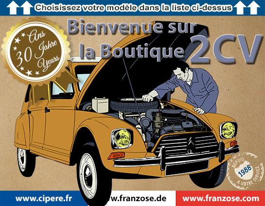 Boutique 2CV   Bienvenue sur le site www.cipere.fr - Citroën 2CV ... 1ae30108084